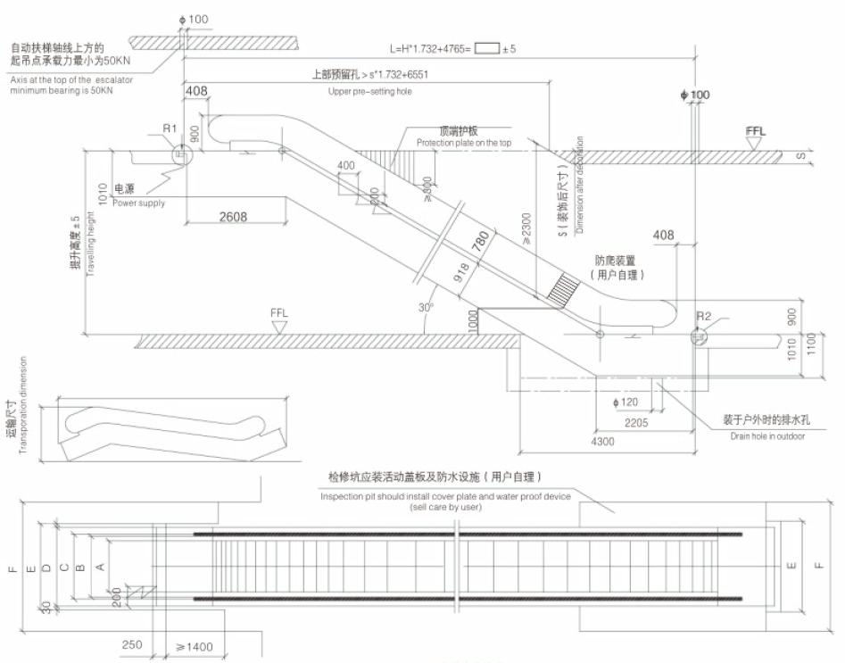 Public Transportation Escalator For Metrro Subway