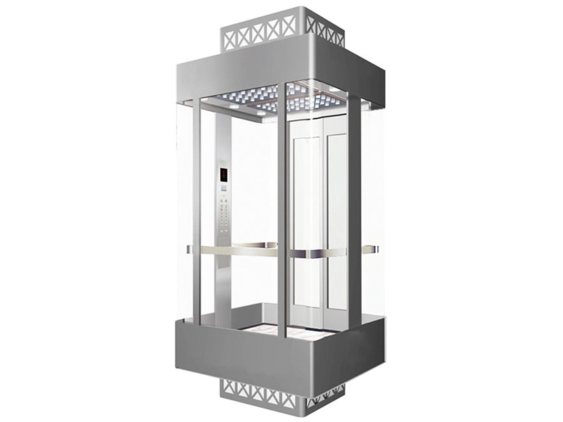 Panoramic Elevator with Square Cabin for Commercial